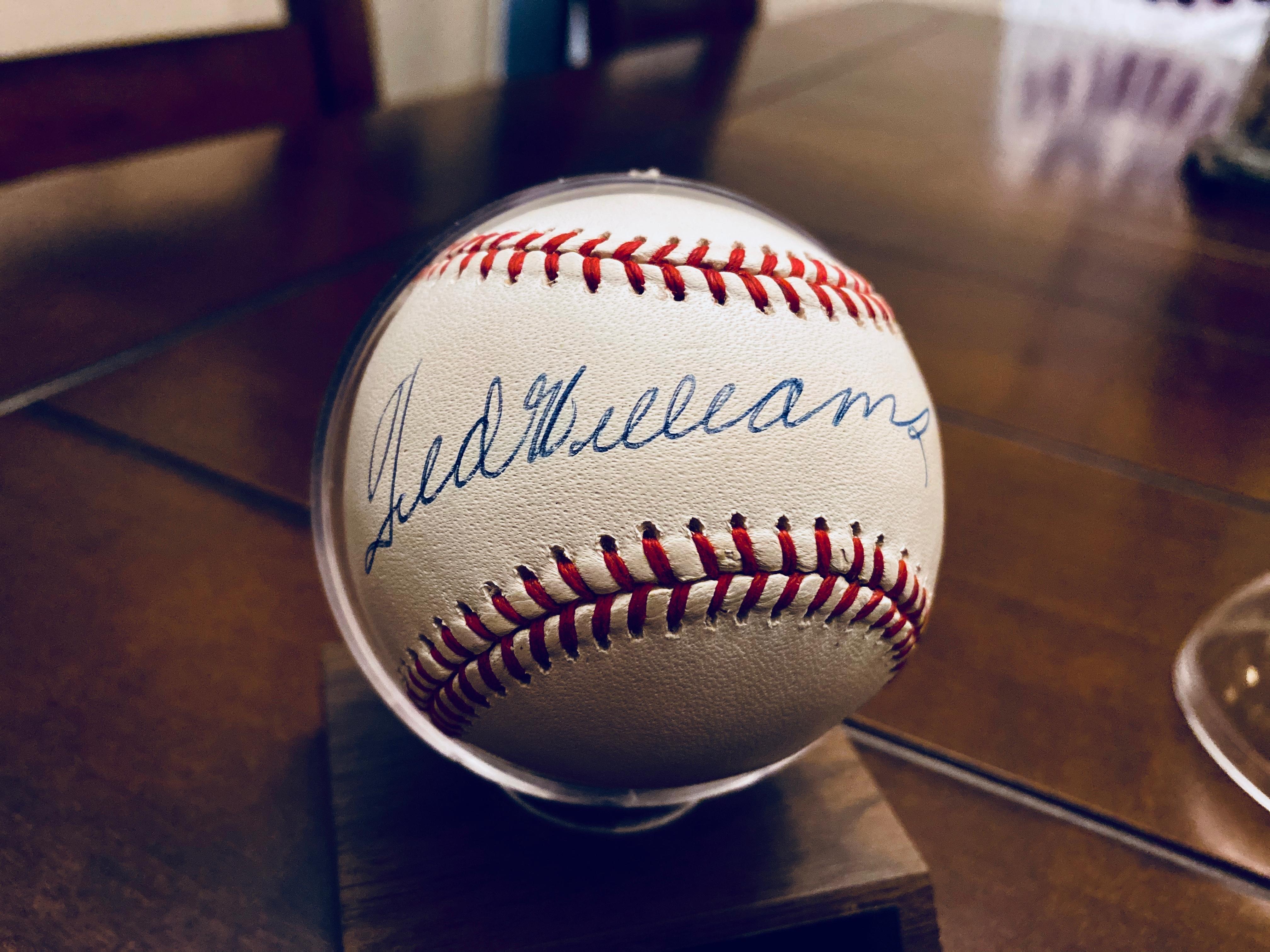 Ted Williams Autographed Baseball JSA