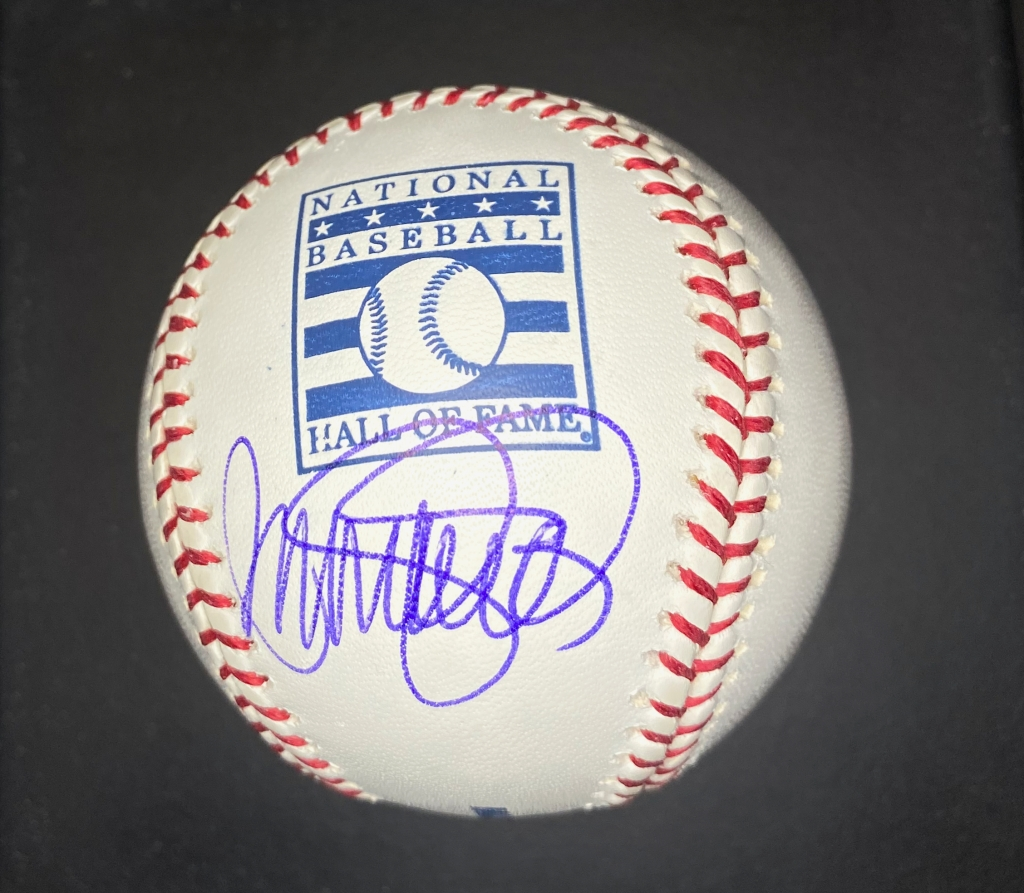 Ryne Sandberg single signed autographed National Baseball Hall of Fame baseball
