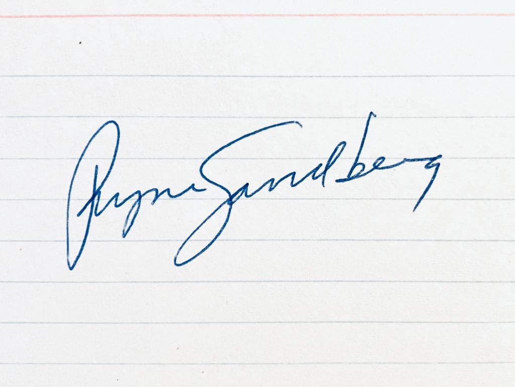 Ryne Sandberg Rookie Era Signature